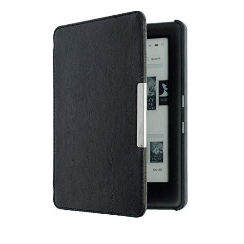 "Cuasting Custodia per KOBO GLO HD 6"" eReader Magnetico Auto Sleep Cover Ultra Sottile Hard Shell (Nero)"