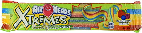 Airheads Extremes Sour Candy, Rainbow Berry, 2 Ounce (Pack of 4 Individual Packages)
