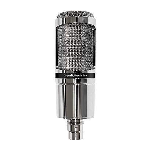 audio technica AT-2020V Microfono da studio (Limited Edition Chrom) con accessorio AT8458A