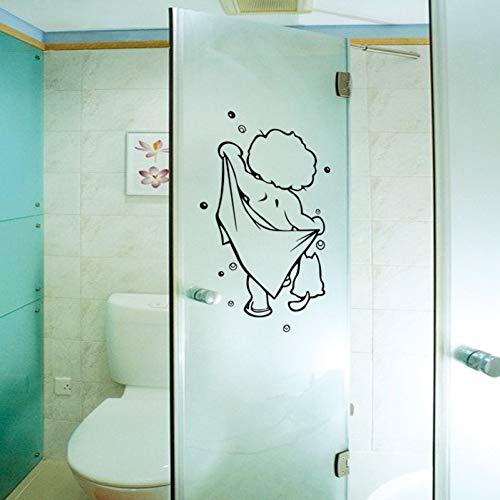 JHGFDGFB Muurstickers douchebad glazen deur stickers kinderen badkamers leuke waterdichte afneembare voor baby badkamer decor stickers muurkunst stickers