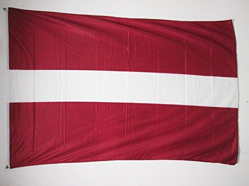 AZ FLAG Flagge LETTLAND 150x90cm - LETTISCHE Fahne 90 x 150 cm Aussenverwendung Metallösen - flaggen Top Qualität