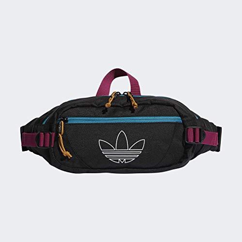 adidas Originals Unisex Utility Crossbody Bag, Black/Active Teal/Berry, ONE SIZE