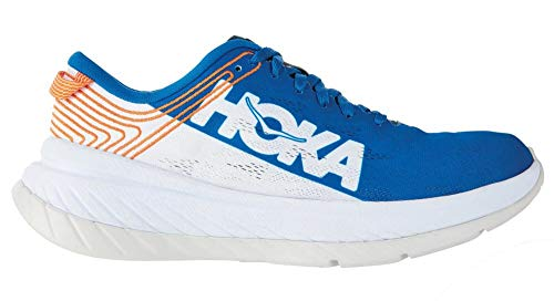 Hoka One Carbon X - White and Blue Shoes, Blue (Blue), 41 1/9 EU