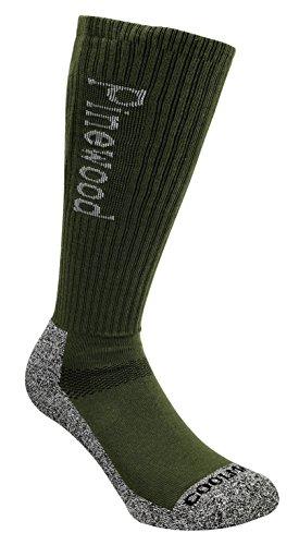 Pinewood Coolmax Lot de 2 Paires de Chaussettes Longues Unisexe M Vert - Vert/Gris