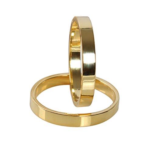 Keland 6PX Gold Serviettenringe für Zuhause, Hochzeit oder Urlaubspartys (Ring, Gold)