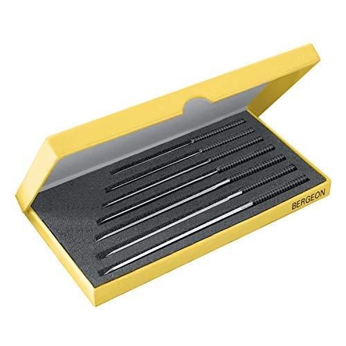 BERGEON 30543-AP – Surtido de 7 piezas – 0,6 – 1,6 mm – Perfecto para perforar agujeros – taladros – Herramientas especiales de relojero – 444935