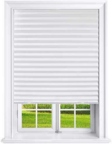 Estilo Light Filtering Pleated Paper Shades White 36 x 69 Pack of 6 Temporary Shades product image