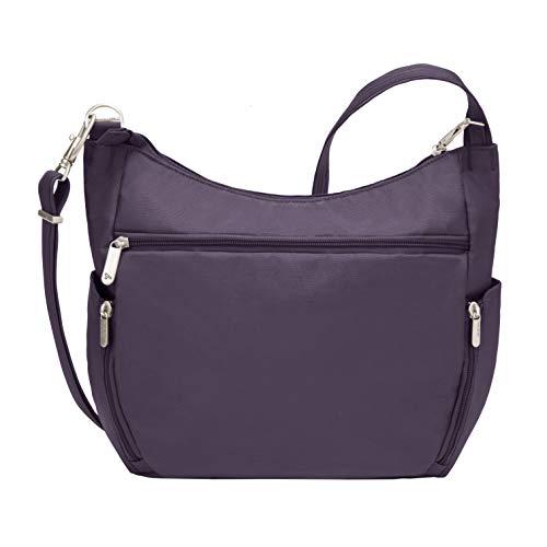 Travelon Anti-Theft Cross-Body Bucket Bag, Purple, 14