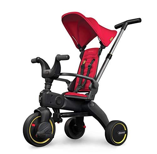 DOONA Liki Trike S1 - das weltweit kompakteste Faltbare Dreirad - Hochwertig, multifunktional, Cooles Design - für Kinder von 10-36 Monate - Flame Red / rot
