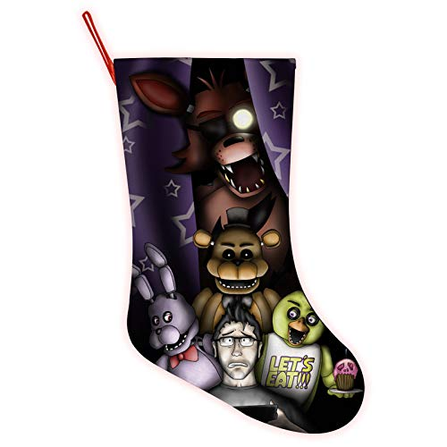 Santa Clause Five-Nights-at-Freddy's Stocking Merry Christmas Pendant Ornament Stockings Xmas Gift Socks Candy Bag