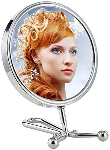 Miroir JT- De Style européen Poignée de Bureau Hanging Double Face cosmétique Portable Simple Princesse Dressing cosmétique Métal Petit et Pratique