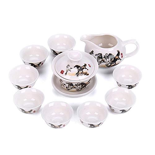 Ksnrang Juego de té Juego de té 10 Juegos de té de...