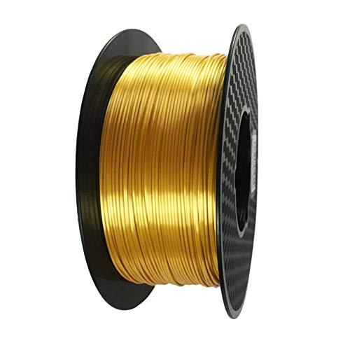 Eono by Amazon Silk Gold PLA Filament 1.75 mm Filamento per stampante 3D 1KG 2.2 LBS Bobina 3D Materiale di stampa Filamento in seta Lustro lucido Metallo metallico Filamento PLA