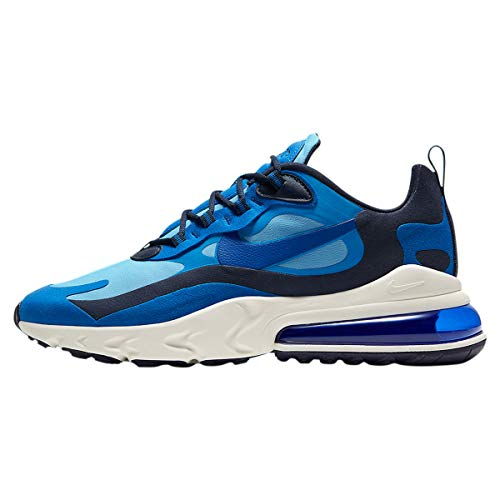 Nike Air Max 270 React Mens Casual Running Shoes Ci3866-400 Size 10.5, Pacific Blue/Hyper Blue-university Blue