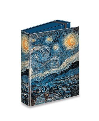 PORTAPROGETTI DORSO 7cm CON ELASTICO KAOS - STARRY NIGHT - VINCENT VAN GOGH