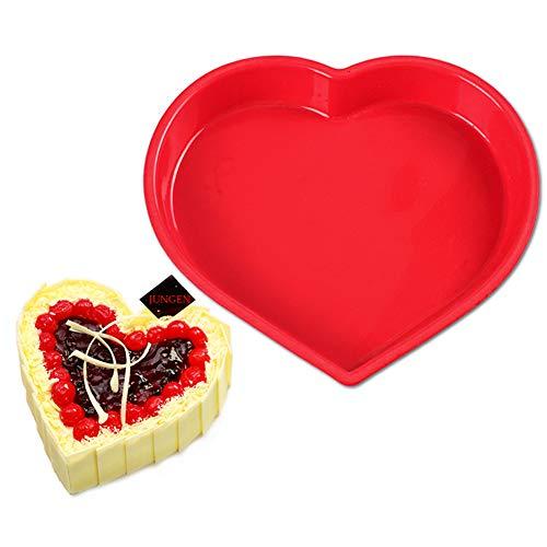 JUNGEN Moule Silicone En Forme Coeur Pour Gateau Chocolat Patisserie 1pcs (Couleur Aléatoir)