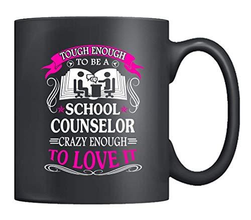 N\A Tazas de café para consejeros Escolares - amic Escolar Resistente, Taza de té Negra, los Mejores Regalos para Amigos (Negro)