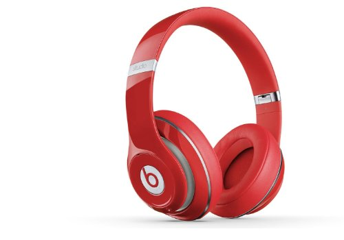 Beats Studio 2.0 WIRED Over Ear Headphone - Red NOT WIRELESS (Renewed)
