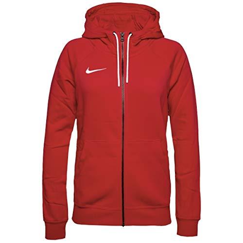 Nike Sweat à Capuche de Football à Manches Longues et Zippé en Molleton pour Femme, Rouge (Université/Blanc), M