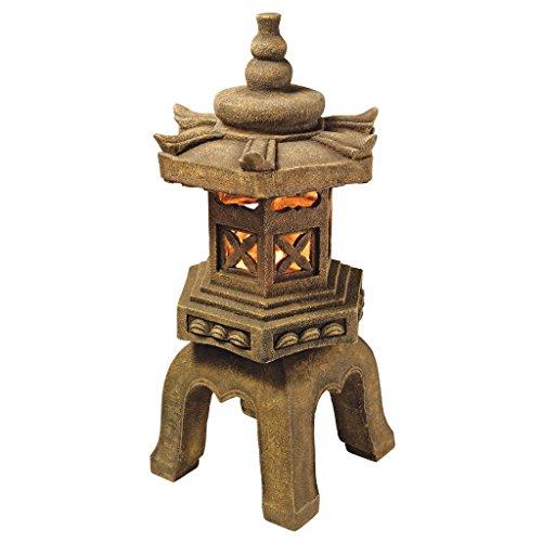 Design Toscano SS8577 Sacred Pagoda Lantern Asian Decor Garden Statue, 27 Inch