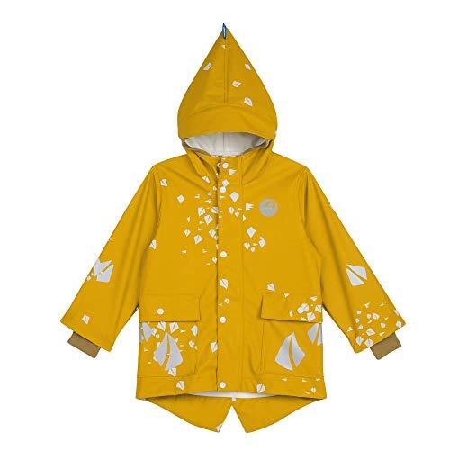Finkid Koivikko Gelb, Kinder Regenjacke, Größe 110-120 - Farbe Harvest Gold - Cinnamon