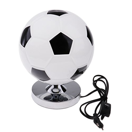 PETSOLA Creativo Footable Pallone da Calcio Scrivania Lampada da Tavolo Camera da Letto Decor 220 V EU Plug