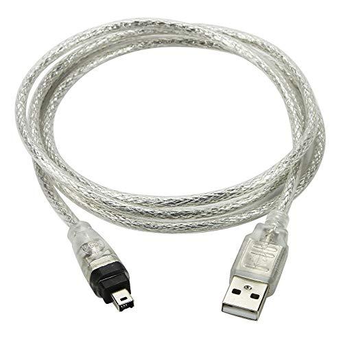 CY USB-Stecker auf Firewire IEEE 1394 4-poliges iLink-Adapterkabel für Sony DCR-TRV75E DV