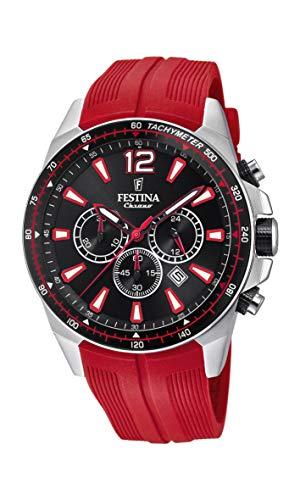 Festina Herren Chronograph Quarz Smart Watch Armbanduhr mit PU Armband F20376/6