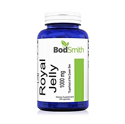Royal Jelly 1000mg 200 Capsules Non-GMO, Soy Free, Dairy Free