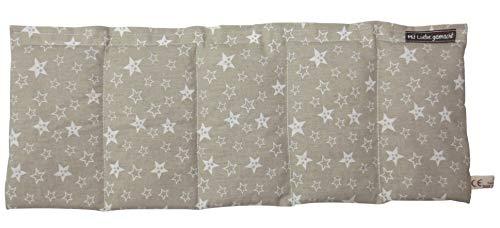 Wärmekissen Körnerkissen Rapskissen Sterne auf braun ca. 50x20cm