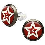 SoulCats® 1 Paar Cabochon Ohrstecker Flagge der sowjetischen Marine