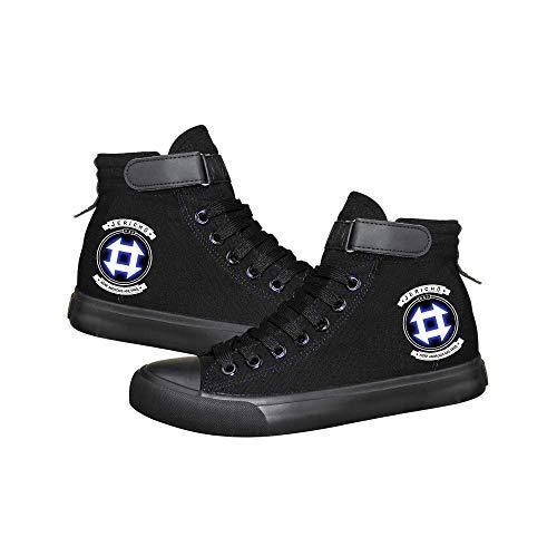 Detroit Become Human Sneaker Scarpe da Tennis di Alta qualità di Moda Comoda Superiore Sneaker squisita Stampata per Scarpe di Tela da Uomo Unisex (Color : Black07, Size : EU39 US7.5)