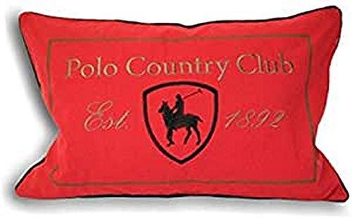 Riva Paoletti Polo Club Cubiertas del Amortiguador, Rojo, 40 X 60 Cm, algodón, 40x60cm