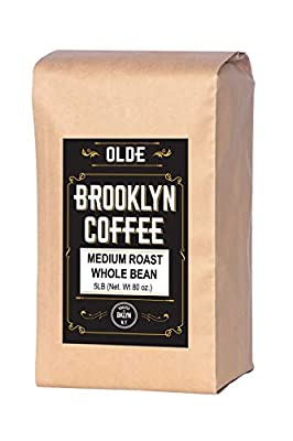 5 lb Coffee Beans - Whole Bean Coffee Medium Roast - Gourmet Coffee, Fresh Roasted Coffee, 5 Pound (5lb ) Bag By Olde Brooklyn Coffee