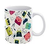 happygoluck1y Tasse mit Taschen und Schuhen von Swomen für Männer, Frauen, Freunde, Kinder, Mädchen