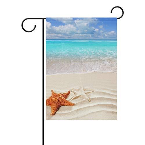Kleine Gartenflagge Karibischer Seestern 28 x 40 Zoll vertikales doppelseitiges Bauernhaus Summer Yard Outdoor Dekor