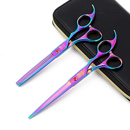 """7"""" Professional Hairdressing Scissors Barber Salon Hair Cutting Shears and Thinning Texturizing Shear"""