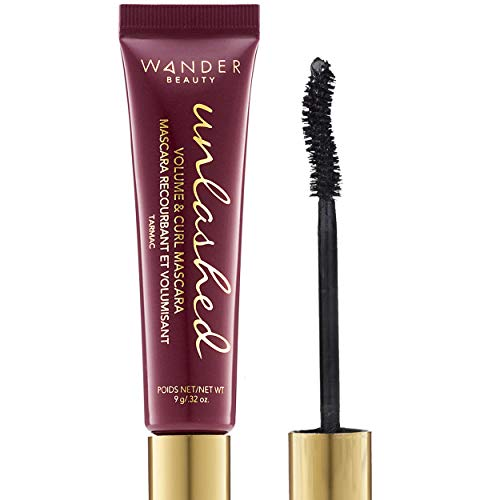 Black Mascara Volume and Length: WANDER BEAUTY UNLASHED VOLUME & CURLING MASCARA - Cruelty Free & Gluten Free. Lash Conditioning, Strengthening, Lengthening Mascara, Volumizing Mascara Eye Makeup.