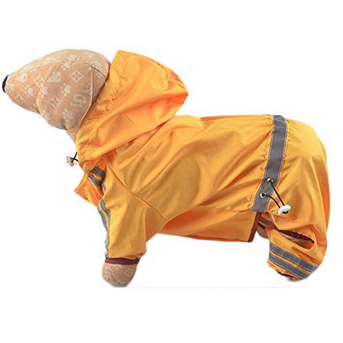 RYDRQF regenjas voor honden, waterdichte en goed zichtbare regenjas voor honden, waterdichte jas voor kleine en middelgrote honden, regenjas voor reflecterende hondenriem