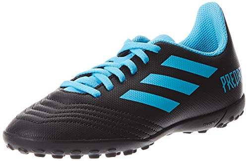 adidas Predator 19.4 TF J, Zapatillas de Fútbol Unisex Niños, Multicolor (Core Black/Bright Cyan/Solar Yellow G25826), 34 EU