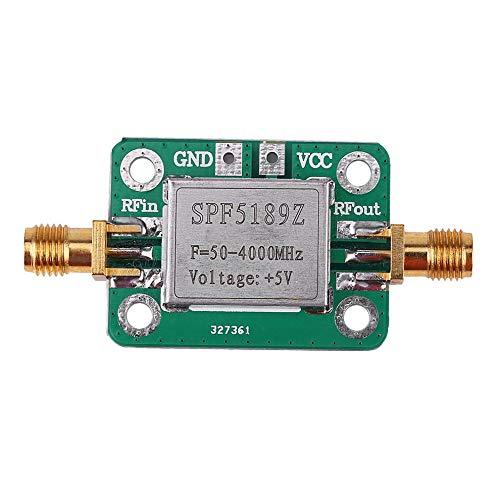 QiKun-Home Receptor de señal de Amplificador de bajo Ruido RF LNA 50-4000 MHz SPF5189 NF = 0.6dB INM Green