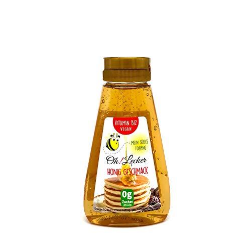 Oh! Lecker zuckerfrei Stevia Sirup Honig mit Vitmain B12 265 g| Vegan | veganer Honigersatz| Zuckerersatz| Fettfrei| Salzfrei