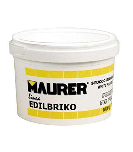 MAURER 14010352 Edil Masilla Plastica Blanca (Tarrrina 1,0 Kilo)
