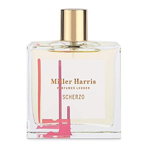 Miller Harris Scherzo Eau de Parfum für Damen, Mandarine, Oud, Sweet Notes, natürliche Rohstoffe und Vegan, ohne Phthalate oder künstliche Farben, für Tag und Abend, 100 ml