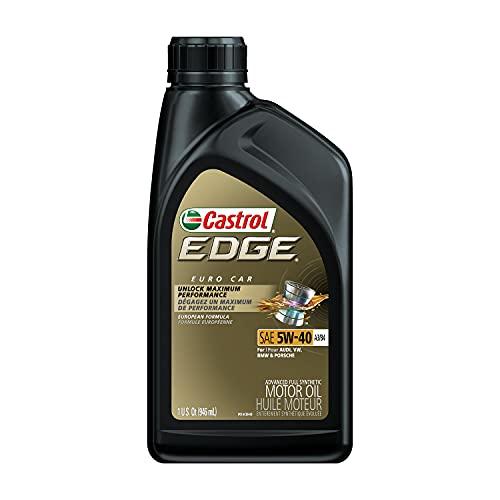 Castrol 06249 Edge 5W-40 Advanced Full Synthetic Motor Oil, 1 Quart, 6 Pack