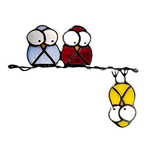 Helmay Three Little Birds - Pegatinas decorativas para pared, diseño de dibujos animados