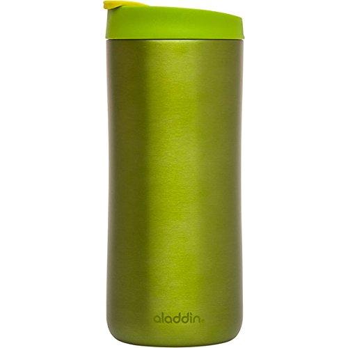 Aladdin 33461 Edelstahl-Thermobecher / Isolierbecher, vakuum isoliert, 0,35 L, grün