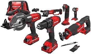 Craftsman V20 Cordless Drill Combo Kit, 7 Tool