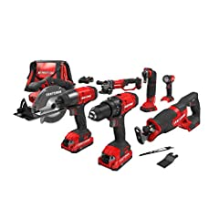This CRAFTSMAN V20 Lithium 7-tool Combo kit provides the tools, batteries, charger, and Accessories needed to get any job done. Part of the V20 cordless system 20V max 1/2-in cordless drill with powerful motor provides 280 UWO of power and 2 speed ge...