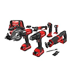 top rated CRAFTSMAN V20 Cordless Combination Kit, 7 Tools (CMCK700D2) 2021